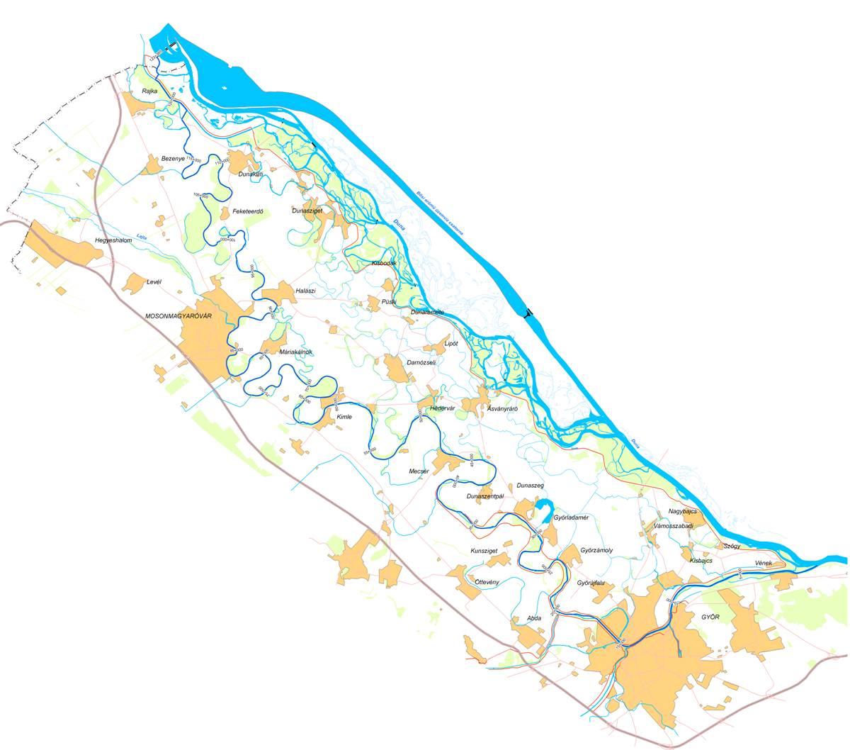 mosoni duna térkép Reális Zöldek Klub | Content| Európai Duna Stratégia   Duna  mosoni duna térkép