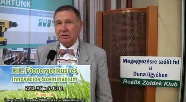 Interjú a Reális Zöldek Klub elnökével a XIX főenergetikusi konferencián