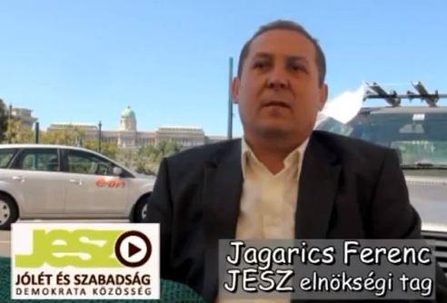 JESZ elnökség tagja Jagarics Ferenc a vízlépcsőről