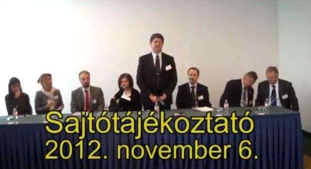 Sajtótájékoztató, 2012.11.06