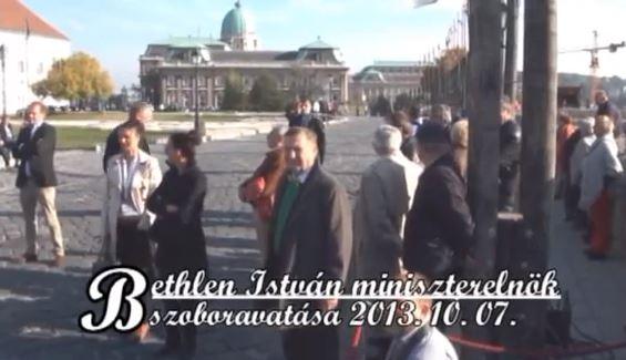 Gróf Bethlen István miniszterelnök szobrának avatása