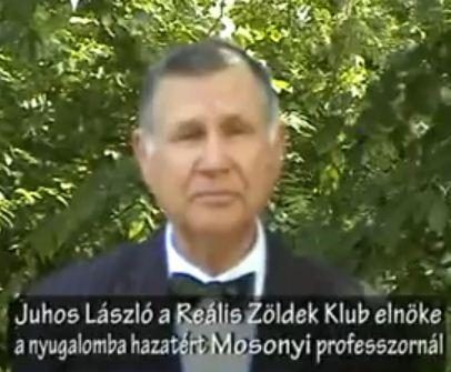 Beszélgetés a végleg hazatért Mosonyi professzorral – Juhos László