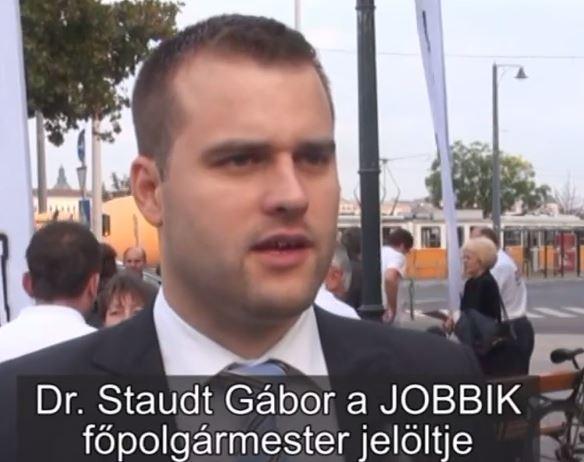 Staudt Gábor a JOBBIK főpolgármester jelöltje
