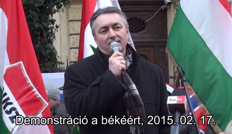 Demonstráció a békéért. 2015. 02. 17. Hegedűs Lóránt