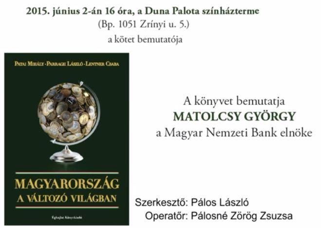 Magyarország a változó világban, könyvbemutató 1. rész