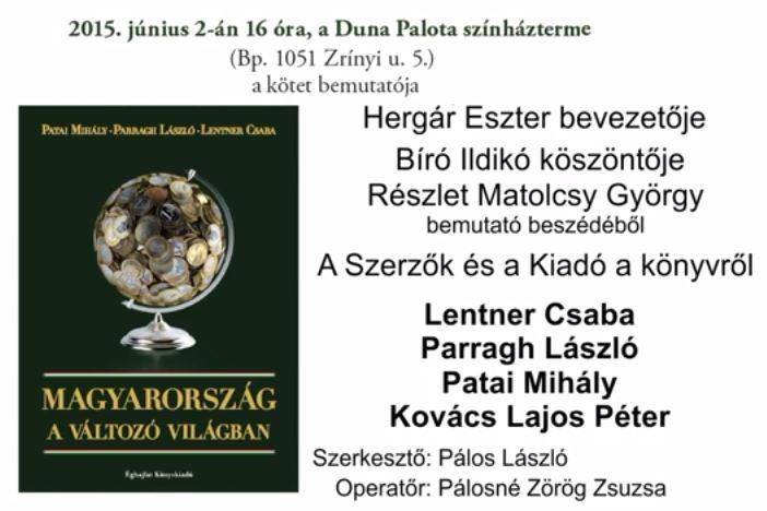 Magyarország a változó világban, könyvbemutató 2. rész